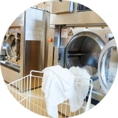commercial laundry circle